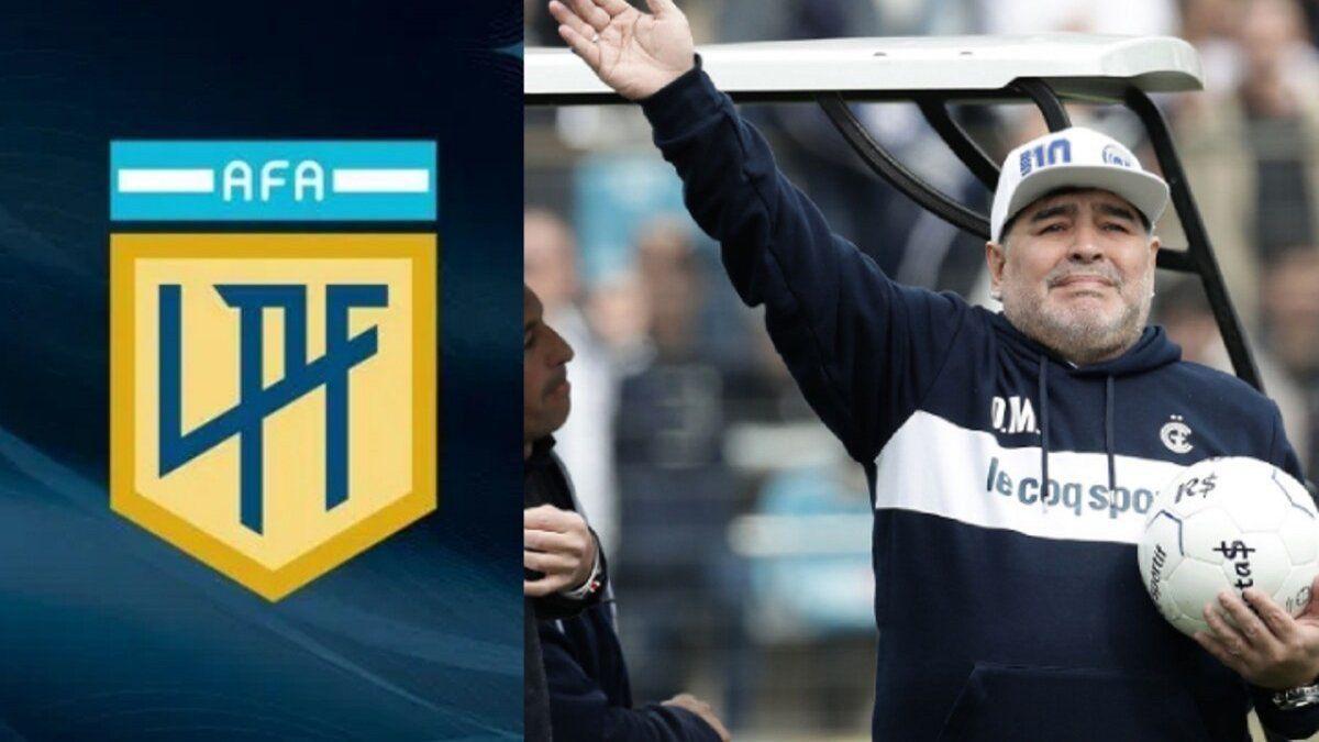 Así será el homenaje a Diego Maradona en el fútbol argentino
