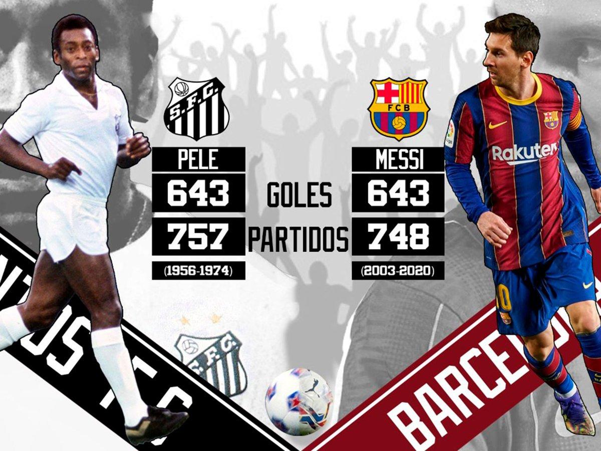 Histórico: Messi alcanzó el récord de Pele