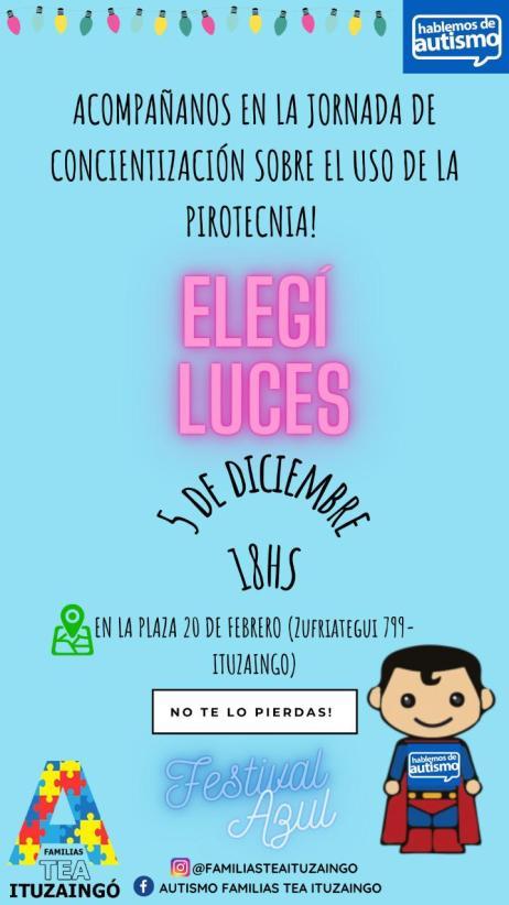 Ituzaingó: Familias TEA organizan una jornada de concientización sobre el no uso de pirotecnia 1
