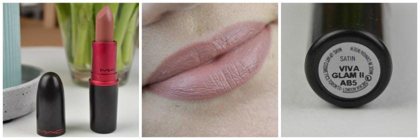 MAC, Lipstick Viva Glam, Viva Glam 2, II, Lipswatch, swatch, swatches, Tragebild