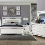 Lacks Allura White 4 Pc Full Bedroom Set