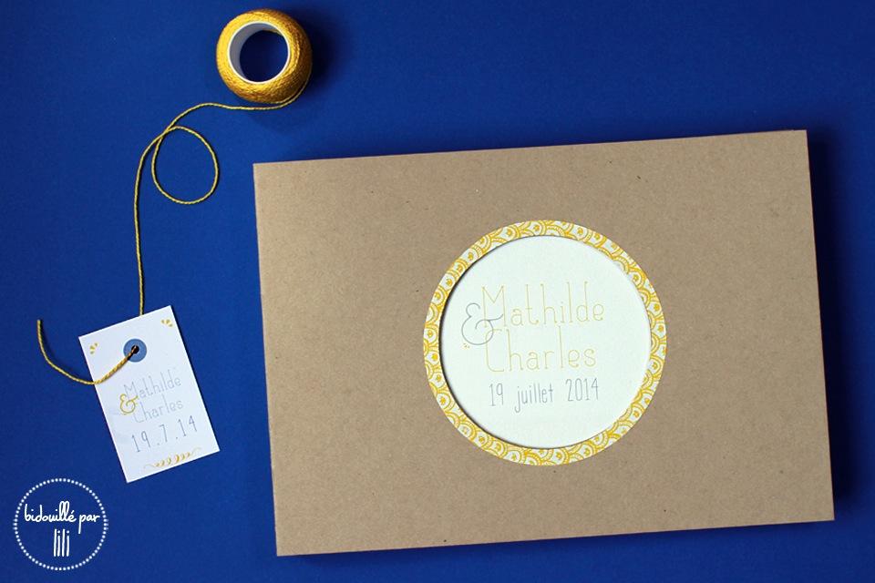 Livre d'or kraft et citron 1