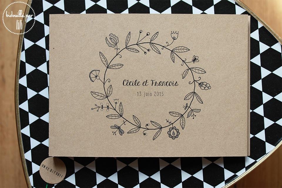 livre d'or couronne de fleurs 1