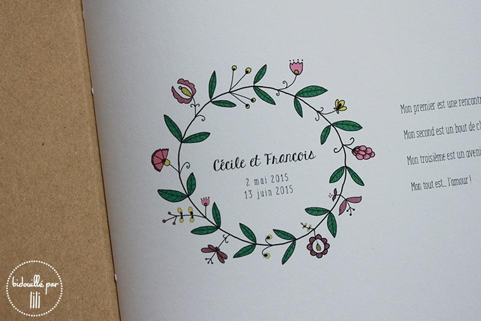 livre d'or couronne de fleurs  2