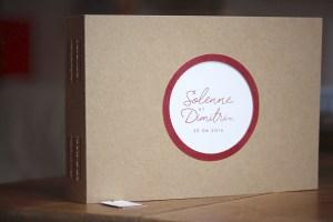 Livre d'or enveloppe kraft wine
