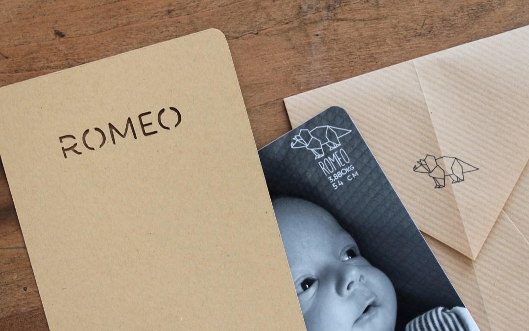 Faire-part origami Roméo