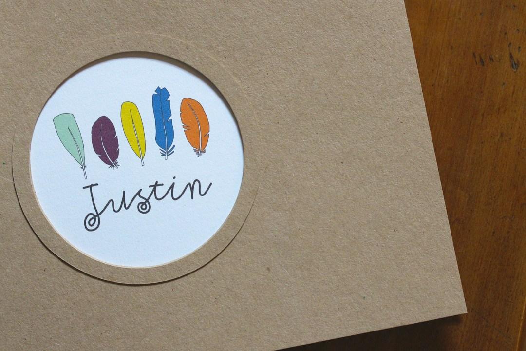 carnet premiers souvenirs Justin 1