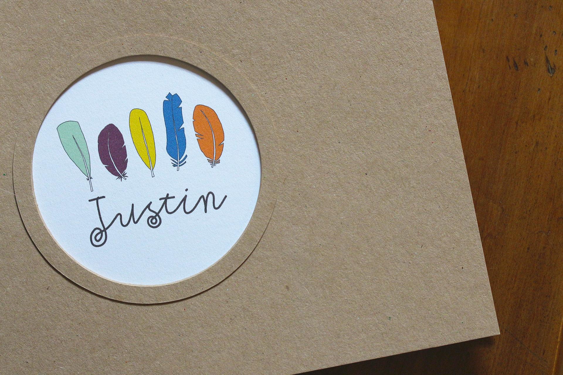 Carnet premiers souvenirs, Justin