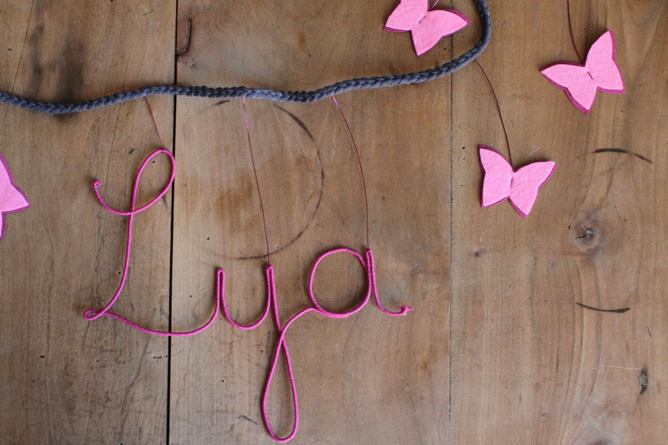 Guirlande prénom papillon