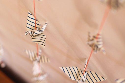 Suspension origami sailor stripped