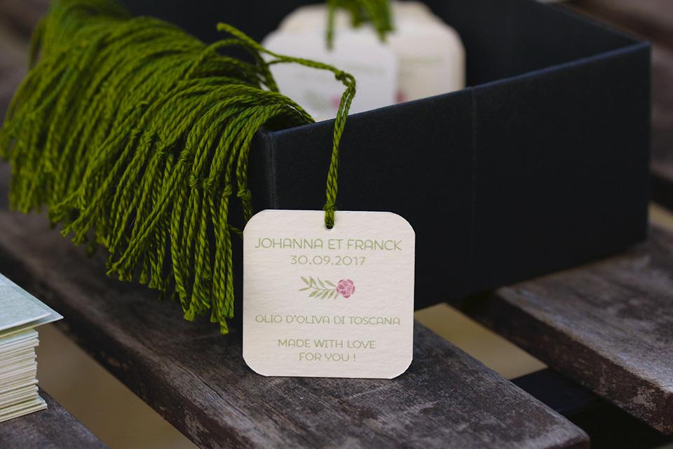 étiquette pour bouteille d'huile d'olive