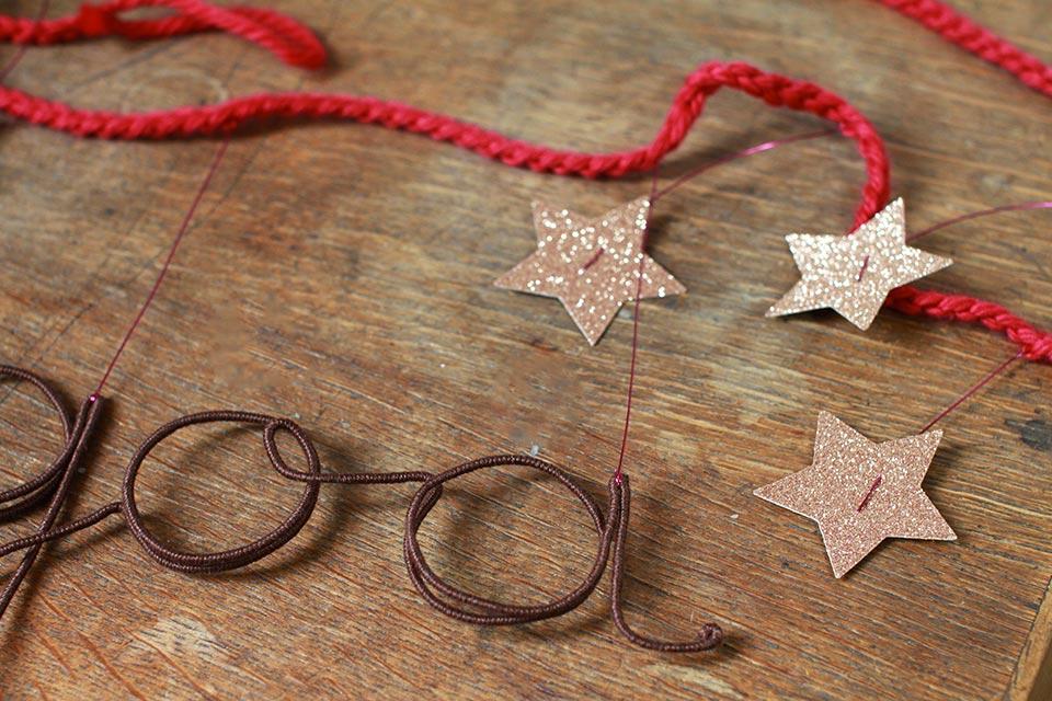 Guirlande prénom étoiles et paillettes
