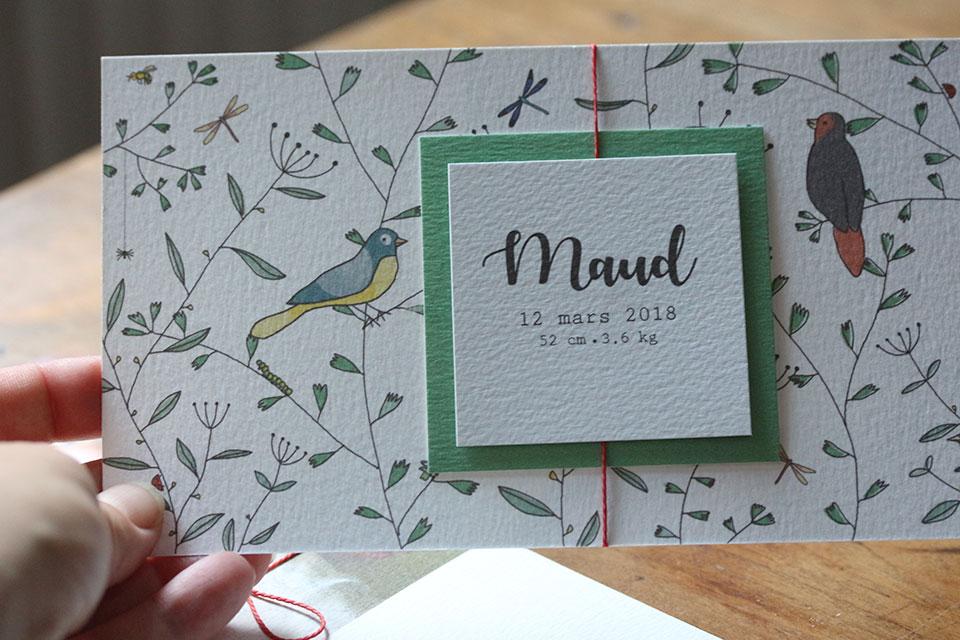 Faire-part Maud