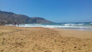 Gozo - pláž Ramla