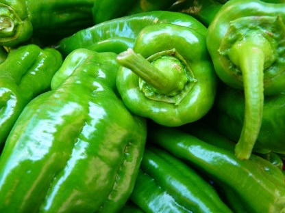 Cómo congelar pimiento verde y judías verdes