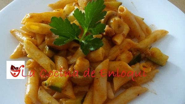 10.05.16 Macarrones con calabacín y champiñones (10)