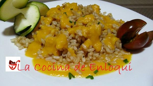 28.06.16 arroz integral con salsa de verdura