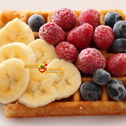 Gofre con fruta
