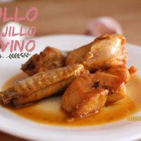 Pollo al ajillo con vino