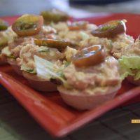 Tartaletas de frutos de mar