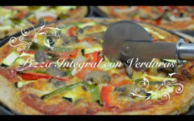 Pizza integral con verduras