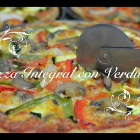 Pizza integral con verduras