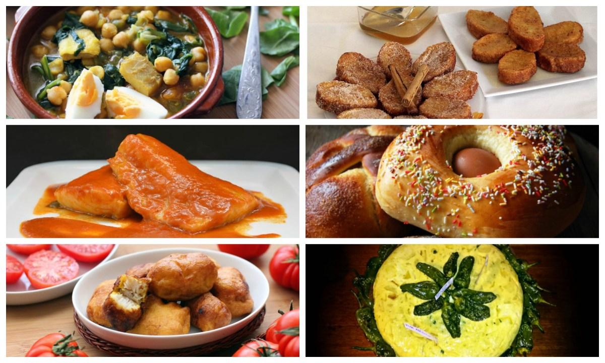 Selección de recetas tradicionales de semana santa