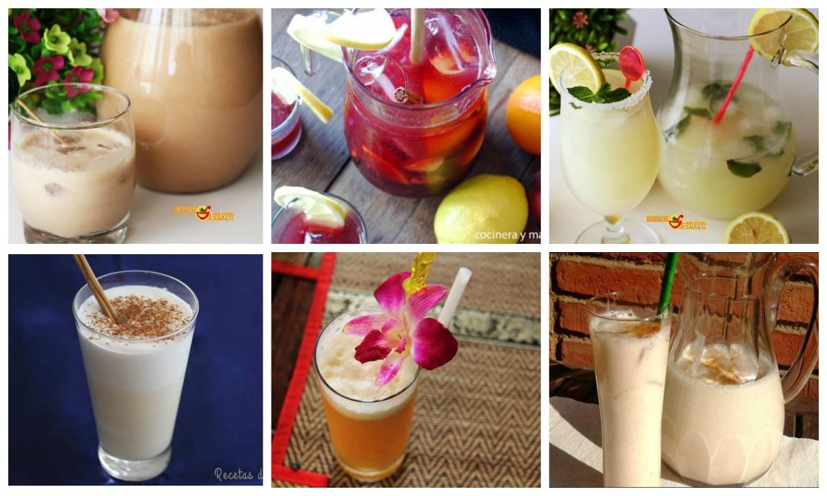 Bebidas caseras muy veraniegas