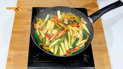 Elaboración de Bacalao con verduras