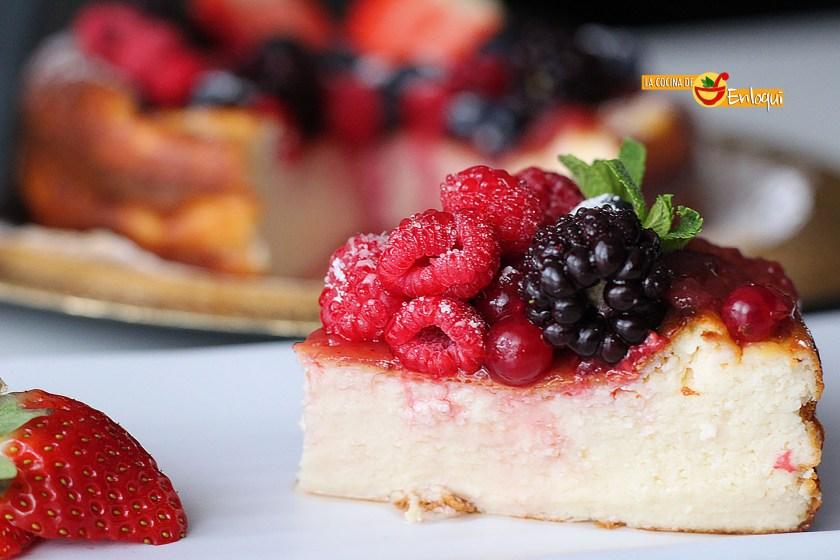 Tarta de queso o cheesecake tradicional