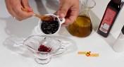 Ensalada con vinagreta de frutos del bosque