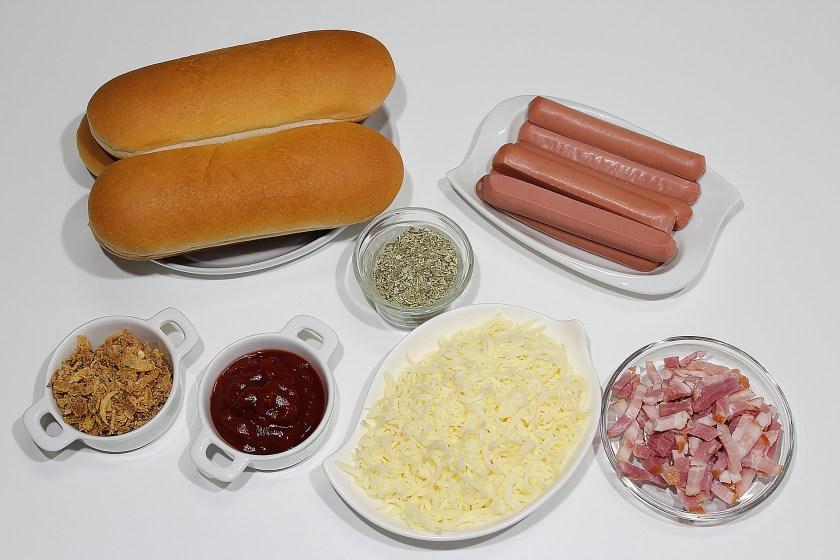 Hot dog con sabor a pizza