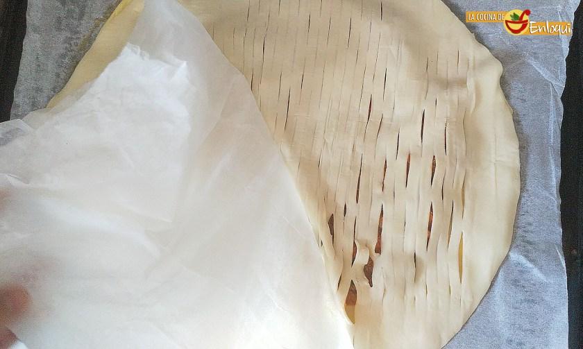 Empanada de pisto con atún