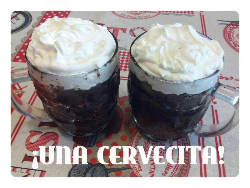 tarta de chocolate Guinness en vaso
