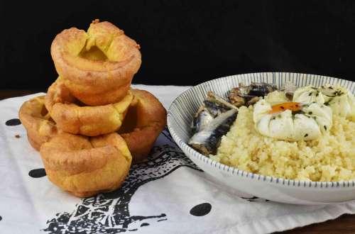 panecillos sin levadura o pudines de yorkshire