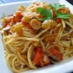 Espaguetis fáciles con verduras