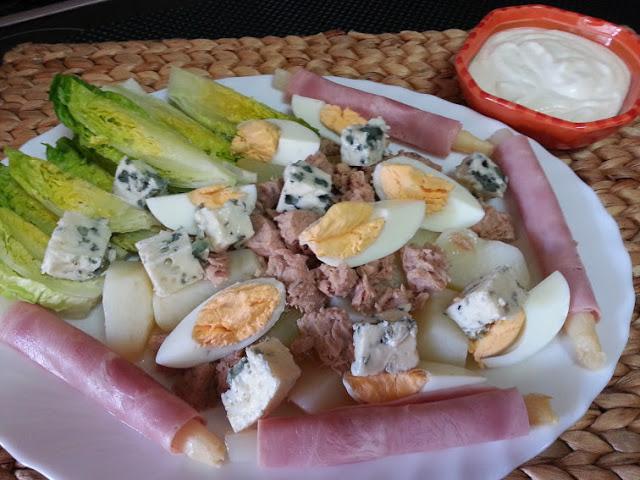 ensalada de patata con salsa mayonesa y yogurt cocina facil