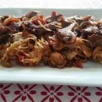 Fideos de arroz con magro cerdo