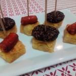 Pincho de tortilla con morcilla y chistorra