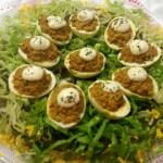 Huevos rellenos al curry por Montse Garín
