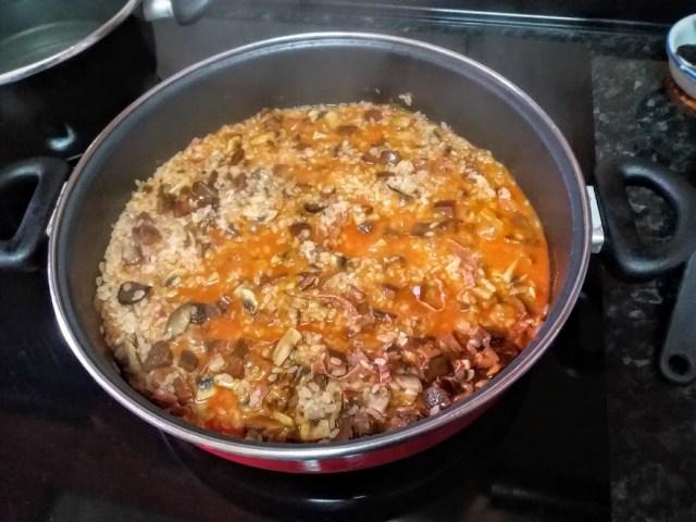 risotto trufado con setas y jamon