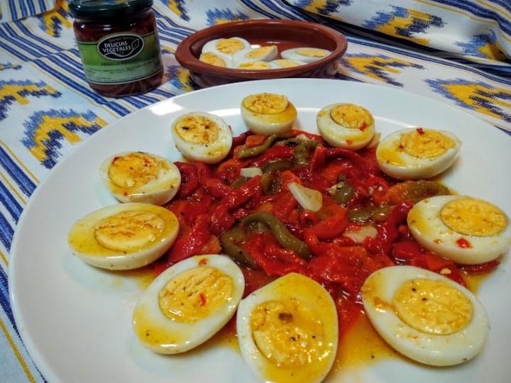 huevos con pimientos asados