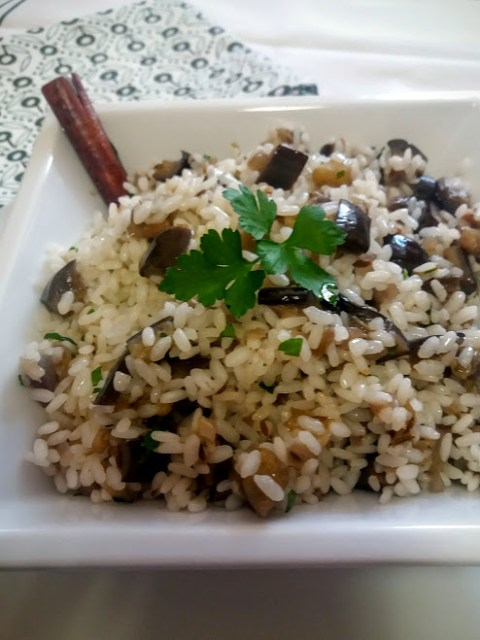 arroz especiado con berenjenas