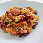 Alubias rojas con arroz