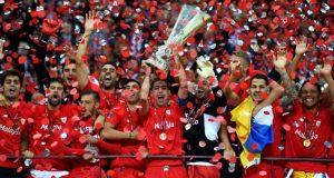 El Sevilla FC se hace con la cuarta copa UEFA de la Europa League, en Varsovia | Imagen: UEFA