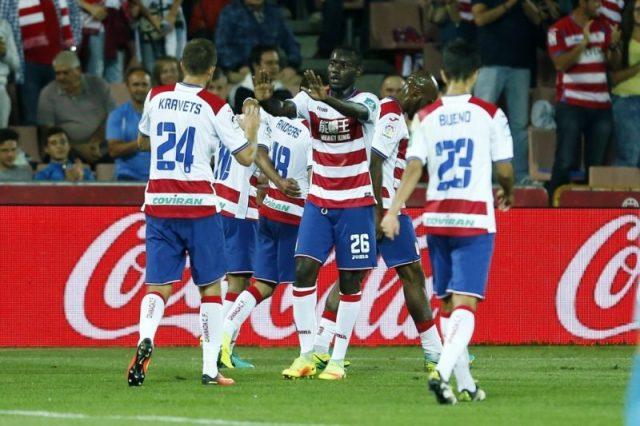 El Granada en el partido contra el Athletic | Foto: Granada CF