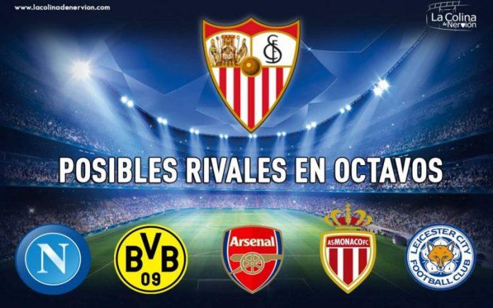 Así son los posibles rivales del Sevilla en octavos