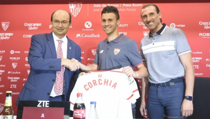 Corchia: «Vine al Sevilla porque es un equipo que gana títulos»