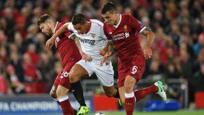 El Sevilla salió vivo de Anfield con un empate de gran valor