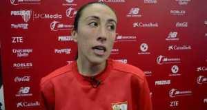 Andrea Domínguez tras el Sevilla FC Femenino - FC Barcelona | Web oficial del Sevilla FC